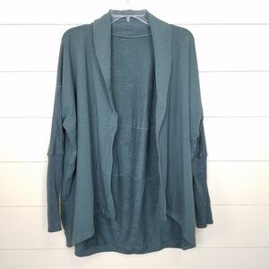 Lululemon Green Teal Open Front Cardigan To & Flow